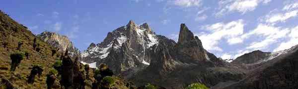 Исчезающие ледники  горы Кения в Африке