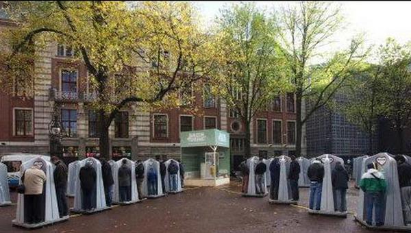 мужской писсуар Амстердама