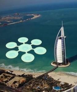 подводный теннисный стадион в Дубае